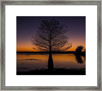 Lake Sunset Framed Print by Amber Kresge