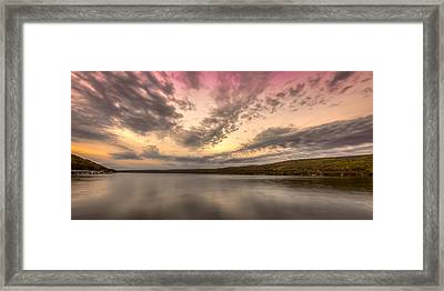 Lake Sunset Framed Print by Gary Fossaceca