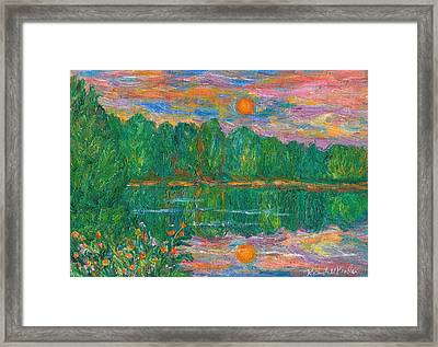 Lake Sunset Framed Print by Kendall Kessler