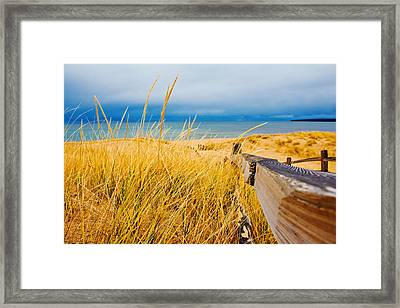 Lake Superior Beach Framed Print by John McGraw