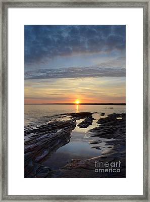 Lake Superior Sunrise Framed Print by Jill Battaglia