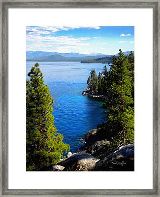 Lake Tahoe From The Rubicon Trail Framed Print by Frank Wilson