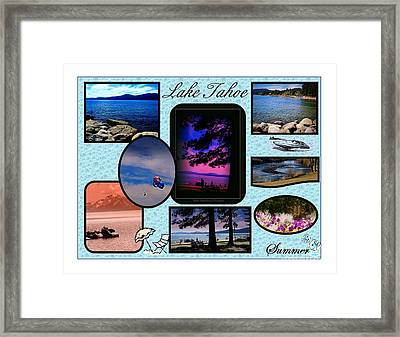 Lake Tahoe In Summer Poster Framed Print by Bobbee Rickard