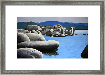 Lake Tahoe Rocky Cove Framed Print by Frank Wilson