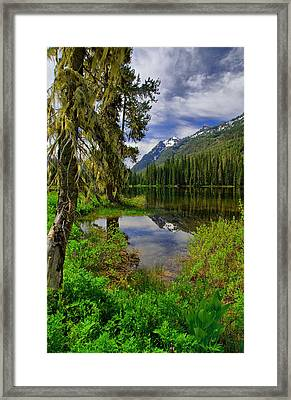 Lake Tucquala Framed Print by Michael  Ayers