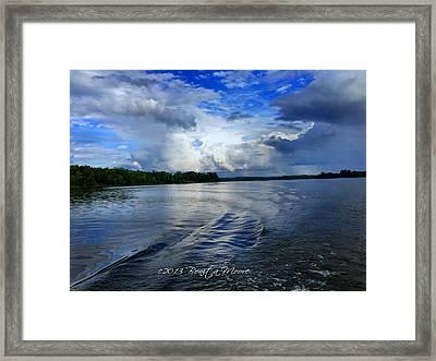 Lake Tuscaloosa Framed Print by Bonita Moore