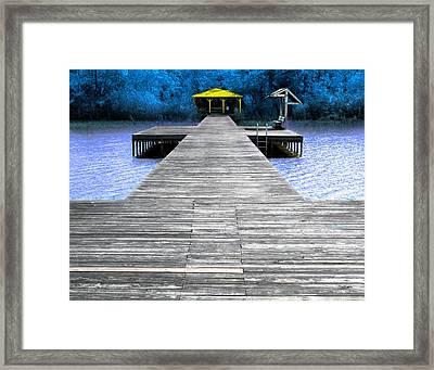 Lake Waccamaw Deck  Framed Print by Joseph Tese