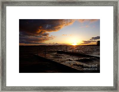 Lake Waconia Sunset Framed Print by Jacqueline Athmann