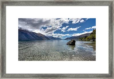 Lake Wakatipu Framed Print by Shari Mattox
