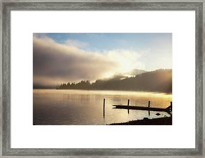 Lake Whatcom At Sunrise  Bellingham Framed Print by Blake Kent