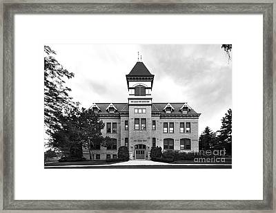 Christs Birthday Framed Print featuring the photograph Lakeland College Old Main Hall by University Icons