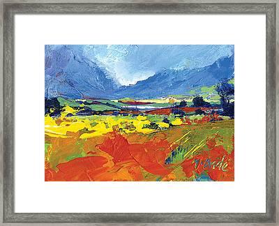 Lakeland Splash Framed Print by Neil McBride