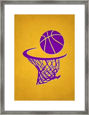 Lakers Team Hoop2 Framed Print by Joe Hamilton