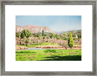 Lakeside California Framed Print by Mary Helmreich