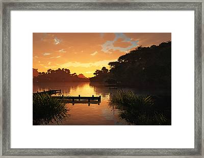 Lakeside Framed Print by Cynthia Decker