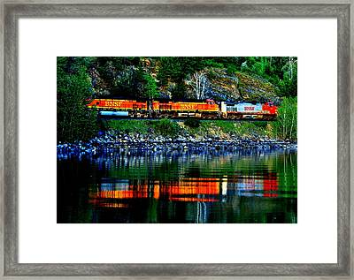 Lakeside Haul Framed Print by Benjamin Yeager