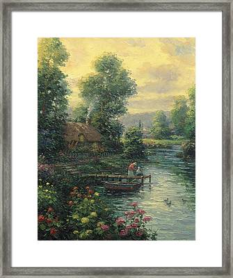 Lakeside Partners Framed Print by Ghambaro