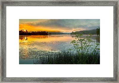 Lakeside Sunrise Framed Print by Bill Wakeley