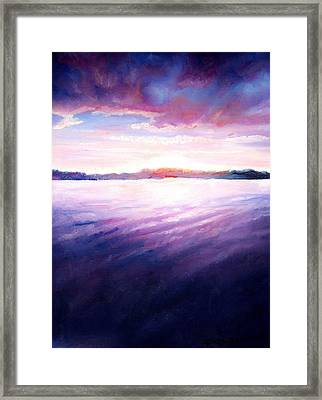 Lakeside Sunset Framed Print by Shana Rowe Jackson