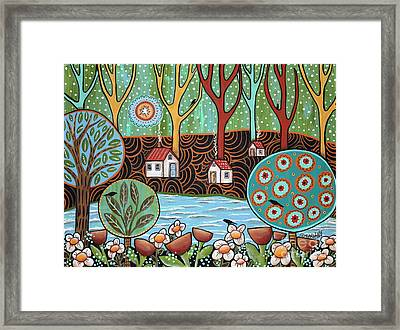 Lakeside1 Framed Print by Karla Gerard