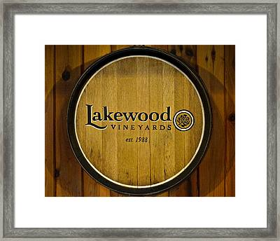 Lakewood Vineyards Framed Print by Frozen in Time Fine Art Photography