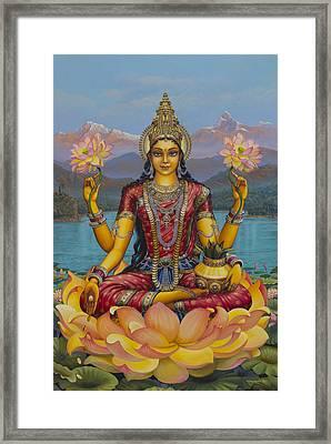 Lakshmi Devi Framed Print by Vrindavan Das
