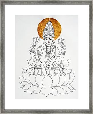 Lakshmi Framed Print by Kruti Shah