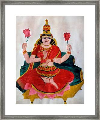 Lakshmi Framed Print by Pratyasha Nithin