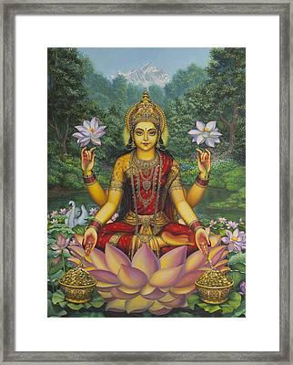 Lakshmi Framed Print by Vrindavan Das