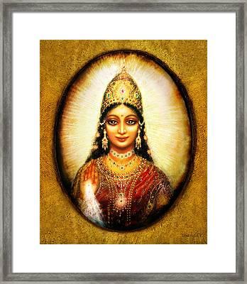 Lakshmis Blessing Framed Print by Ananda Vdovic