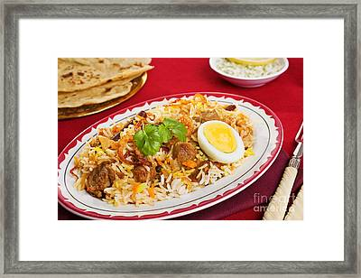 Lamb Biryani Framed Print by Colin and Linda McKie