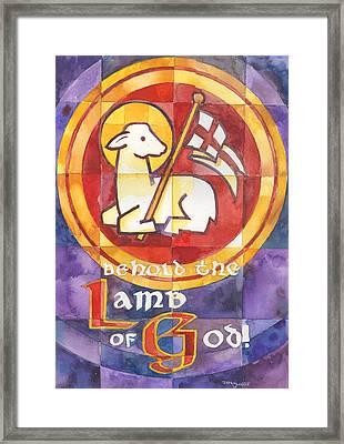Lamb Of God Framed Print by Mark Jennings