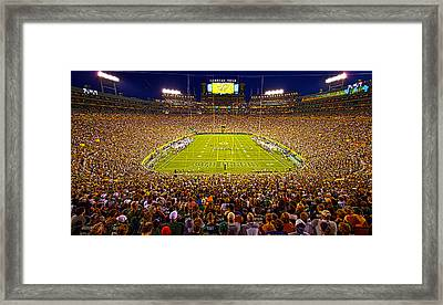 Lambeau Field Framed Print by Phil Koch