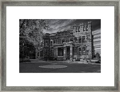 Lambert Castle Bw Framed Print by Susan Candelario