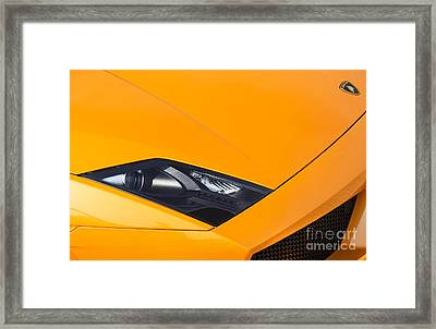 Lamborghini Abstract Framed Print by Tim Gainey