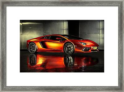 Lamborghini Aventador Framed Print by Movie Poster Prints