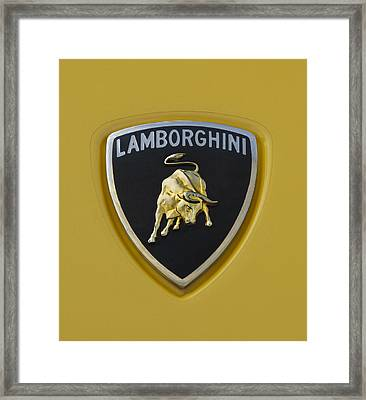 Lamborghini Emblem 2 Framed Print by Jill Reger
