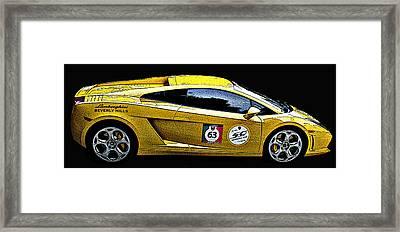 Lamborghini Gallardo Side Study Framed Print by Samuel Sheats