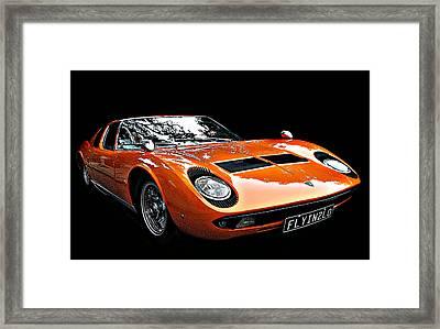 Lamborghini Miura S Framed Print by Samuel Sheats