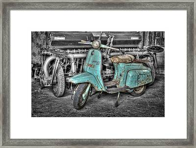 Lambretta Framed Print by Mauro Celotti