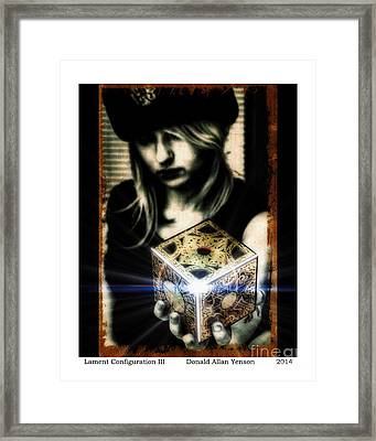 Lament Configuration IIi Framed Print by Donald Yenson