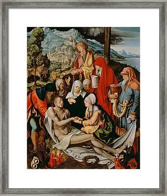 Lamentation For Christ Framed Print by Albrecht Durer or Duerer