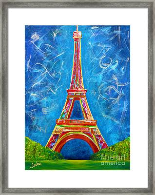 L'amour A Paris Framed Print by Teshia Art