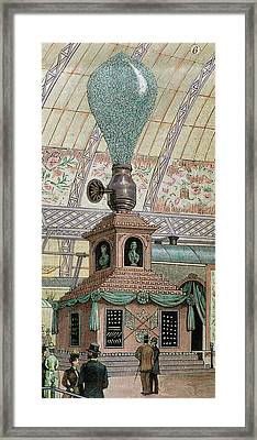 Lamp Made Of 20,000 Incandescent Lights Framed Print by Prisma Archivo
