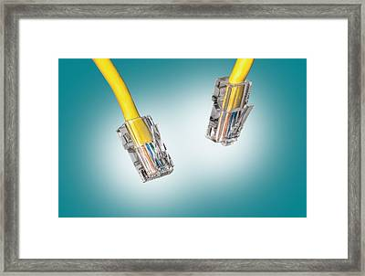 Lan Cable Close Up Framed Print by Shaun Wilkinson