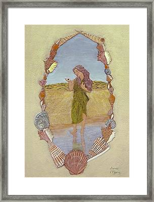 Lanassa Diva Of Molluscs  Framed Print by James McGarry Leather Artist