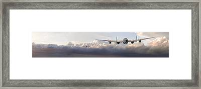 Lancaster - Main Force Outbound Framed Print by Pat Speirs