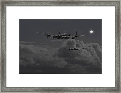 Lancaster- Night Hunter Framed Print by Pat Speirs