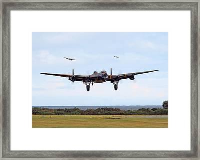 Lancaster - Safe Home Framed Print by Pat Speirs