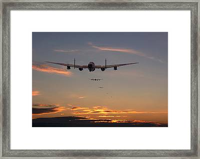 Lancaster - At The Going Down Of The Sun... Framed Print by Pat Speirs